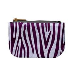 Skin4 White Marble & Purple Leather Mini Coin Purses by trendistuff