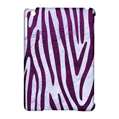 Skin4 White Marble & Purple Leather Apple Ipad Mini Hardshell Case (compatible With Smart Cover)