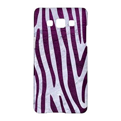 Skin4 White Marble & Purple Leather Samsung Galaxy A5 Hardshell Case  by trendistuff