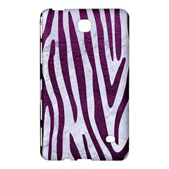 Skin4 White Marble & Purple Leather Samsung Galaxy Tab 4 (7 ) Hardshell Case  by trendistuff