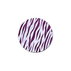 Skin3 White Marble & Purple Leather (r) Golf Ball Marker (10 Pack) by trendistuff