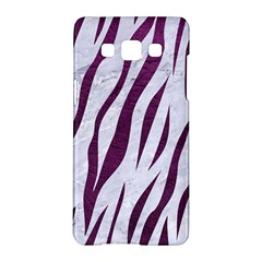 Skin3 White Marble & Purple Leather (r) Samsung Galaxy A5 Hardshell Case  by trendistuff