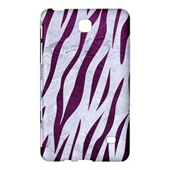 Skin3 White Marble & Purple Leather (r) Samsung Galaxy Tab 4 (7 ) Hardshell Case  by trendistuff