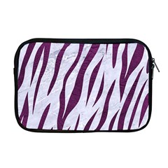 Skin3 White Marble & Purple Leather (r) Apple Macbook Pro 17  Zipper Case by trendistuff