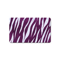 Skin3 White Marble & Purple Leather Magnet (name Card) by trendistuff