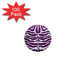 Skin2 White Marble & Purple Leather 1  Mini Magnets (100 Pack)  by trendistuff