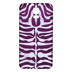 Skin2 White Marble & Purple Leather Samsung Galaxy S5 Back Case (white) by trendistuff