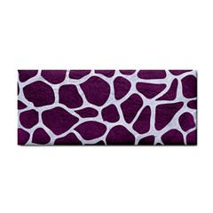 Skin1 White Marble & Purple Leather (r) Cosmetic Storage Cases by trendistuff