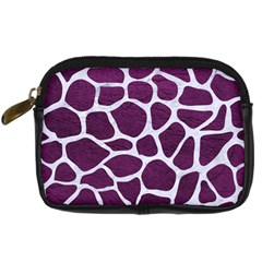 Skin1 White Marble & Purple Leather (r) Digital Camera Cases by trendistuff