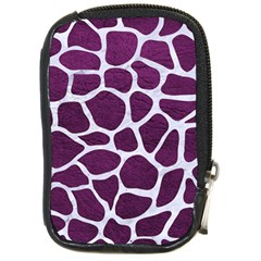 Skin1 White Marble & Purple Leather (r) Compact Camera Cases by trendistuff