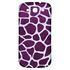 Skin1 White Marble & Purple Leather (r) Samsung Galaxy S3 S Iii Classic Hardshell Back Case by trendistuff