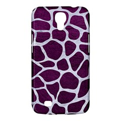 Skin1 White Marble & Purple Leather (r) Samsung Galaxy Mega 6 3  I9200 Hardshell Case by trendistuff
