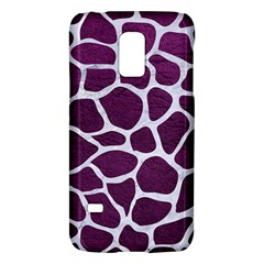 Skin1 White Marble & Purple Leather (r) Galaxy S5 Mini by trendistuff