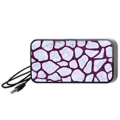 Skin1 White Marble & Purple Leather Portable Speaker by trendistuff
