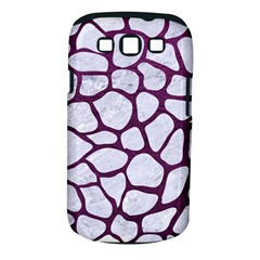 Skin1 White Marble & Purple Leather Samsung Galaxy S Iii Classic Hardshell Case (pc+silicone) by trendistuff