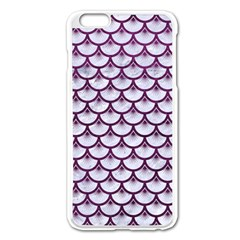 Scales3 White Marble & Purple Leather (r)scales3 White Marble & Purple Leather (r) Apple Iphone 6 Plus/6s Plus Enamel White Case by trendistuff