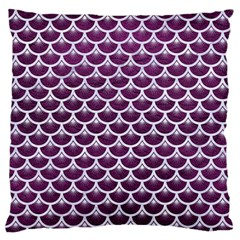 Scales3 White Marble & Purple Leather Standard Flano Cushion Case (one Side) by trendistuff