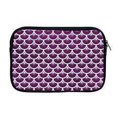 Scales3 White Marble & Purple Leather Apple Macbook Pro 17  Zipper Case by trendistuff