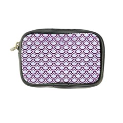 Scales2 White Marble & Purple Leather (r) Coin Purse by trendistuff