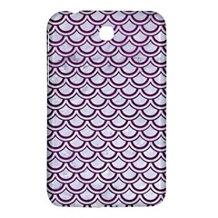 Scales2 White Marble & Purple Leather (r) Samsung Galaxy Tab 3 (7 ) P3200 Hardshell Case  by trendistuff
