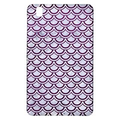 Scales2 White Marble & Purple Leather (r) Samsung Galaxy Tab Pro 8 4 Hardshell Case by trendistuff