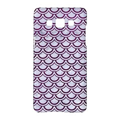 Scales2 White Marble & Purple Leather (r) Samsung Galaxy A5 Hardshell Case  by trendistuff