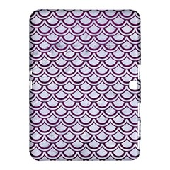 Scales2 White Marble & Purple Leather (r) Samsung Galaxy Tab 4 (10 1 ) Hardshell Case  by trendistuff