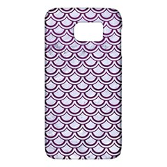 Scales2 White Marble & Purple Leather (r) Galaxy S6 by trendistuff