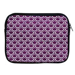 Scales2 White Marble & Purple Leather Apple Ipad 2/3/4 Zipper Cases by trendistuff