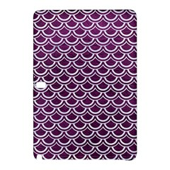 Scales2 White Marble & Purple Leather Samsung Galaxy Tab Pro 12 2 Hardshell Case by trendistuff