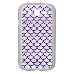Scales1 White Marble & Purple Leather (r) Samsung Galaxy Grand Duos I9082 Case (white) by trendistuff