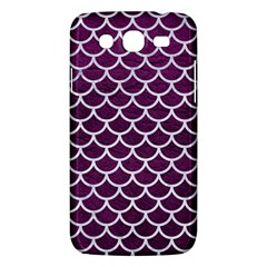 Scales1 White Marble & Purple Leather Samsung Galaxy Mega 5 8 I9152 Hardshell Case  by trendistuff