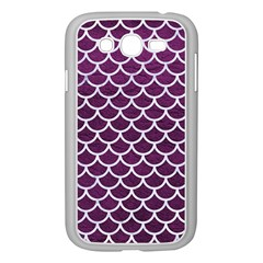 Scales1 White Marble & Purple Leather Samsung Galaxy Grand Duos I9082 Case (white) by trendistuff