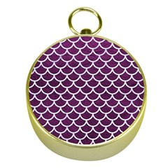 Scales1 White Marble & Purple Leather Gold Compasses by trendistuff