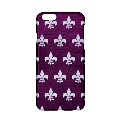 Royal1 White Marble & Purple Leather (r) Apple Iphone 6/6s Hardshell Case by trendistuff