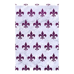 Royal1 White Marble & Purple Leather Shower Curtain 48  X 72  (small)  by trendistuff