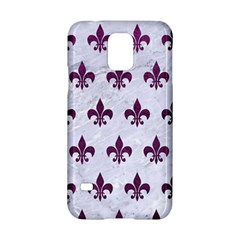 Royal1 White Marble & Purple Leather Samsung Galaxy S5 Hardshell Case  by trendistuff