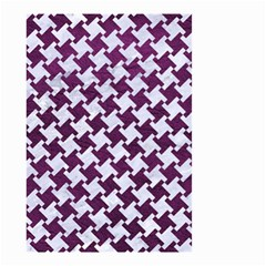 Houndstooth2 White Marble & Purple Leather Small Garden Flag (two Sides) by trendistuff