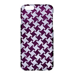 Houndstooth2 White Marble & Purple Leather Apple Iphone 6 Plus/6s Plus Hardshell Case by trendistuff