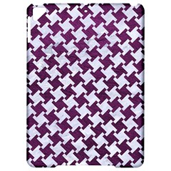 Houndstooth2 White Marble & Purple Leather Apple Ipad Pro 9 7   Hardshell Case by trendistuff
