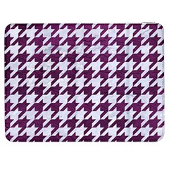 Houndstooth1 White Marble & Purple Leather Samsung Galaxy Tab 7  P1000 Flip Case by trendistuff