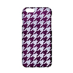 Houndstooth1 White Marble & Purple Leather Apple Iphone 6/6s Hardshell Case by trendistuff