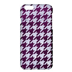 Houndstooth1 White Marble & Purple Leather Apple Iphone 6 Plus/6s Plus Hardshell Case by trendistuff