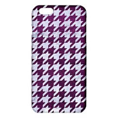 Houndstooth1 White Marble & Purple Leather Iphone 6 Plus/6s Plus Tpu Case by trendistuff