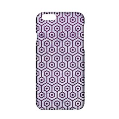 Hexagon1 White Marble & Purple Leather (r) Apple Iphone 6/6s Hardshell Case by trendistuff