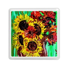 Sunflowers In Elizabeth House Memory Card Reader (square)  by bestdesignintheworld
