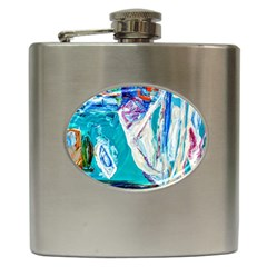 Marine On Balboa Island Hip Flask (6 Oz) by bestdesignintheworld