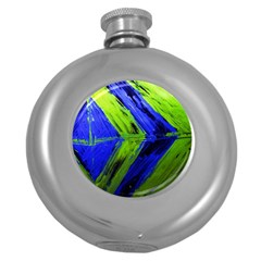 Point Of Equilibrium 7 Round Hip Flask (5 Oz) by bestdesignintheworld