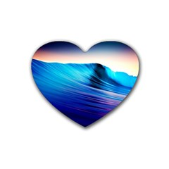 Rolling Waves Rubber Coaster (heart)