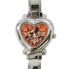 Rock Music Moves Me Heart Italian Charm Watch by Sapixe